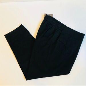 J. Jill Tapered Black Cotton Poplin Pant NWT